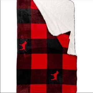 NWT VS PINK Plaid Sherpa Blanket